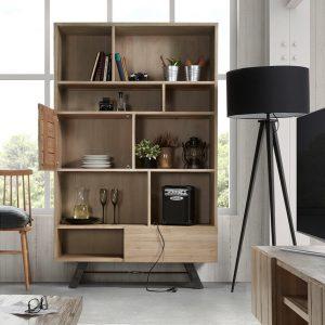Kave Home Boekenkast 'Tiva' met 1 deur en 1 lade