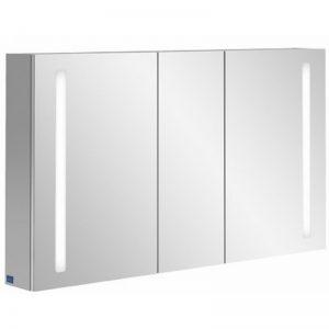 Villeroy & boch My view 14 spiegelkast 130x75 cm. 3 deuren en led verlichting