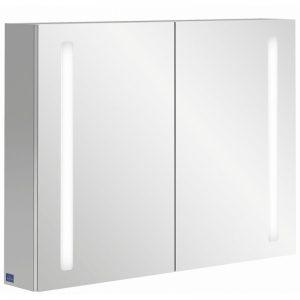 Villeroy & boch My view 14 spiegelkast 80 cm.2x deur m/led m/vergrootspiegel