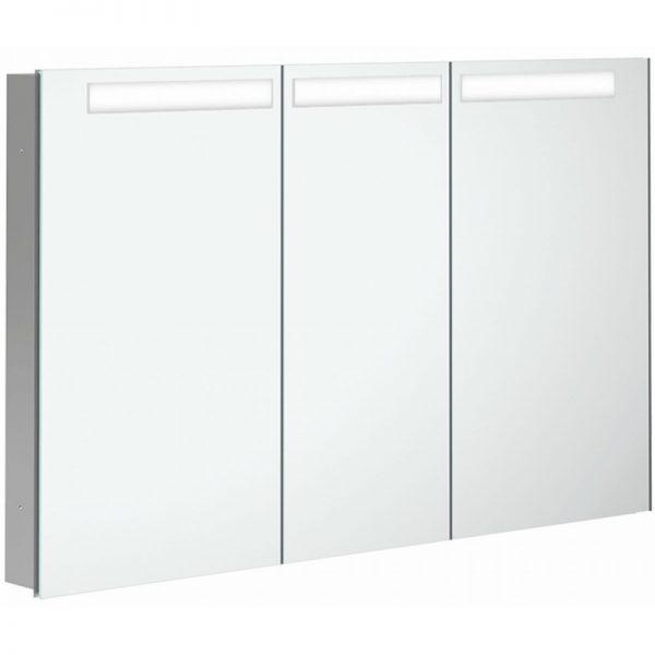 Villeroy & boch My view in inbouw spiegelkast 120cm.3xdeur+led+vergr.spiegel