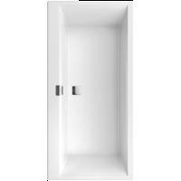 Villeroy & Boch Squaro Edge 12 vrijstaand ligbad 180x80cm wit met zwarte badpanelen