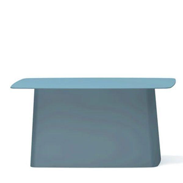 Vitra Metal Side Table tuintafel ijsgrijs groot
