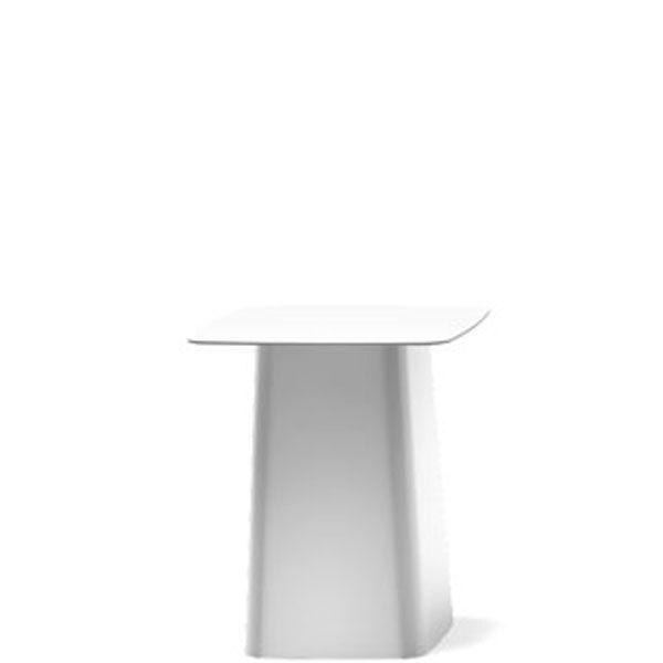 Vitra Metal Side Table tuintafel wit middel