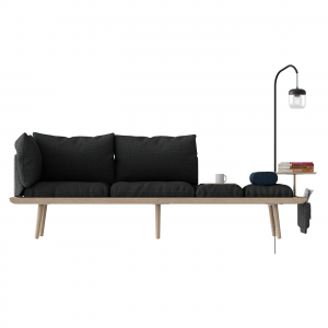 Vita Copenhagen Lounge Around sofa - 3-zits bank - Donkergrijs -