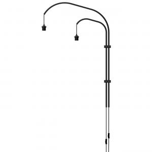 VITA lampen Willow Wall - Wandbevestiging - Double - Zwart - Lampenstandaard