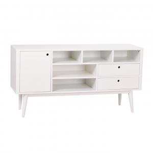 Nordiq Vienna sideboard - Scandinavisch dressoir - 150 cm - Wit - Modern