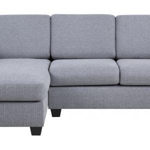 Loungebank 'Livia' links, kleur lichtgrijs