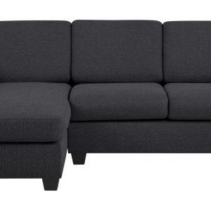 Loungebank 'Livia' links, kleur antraciet