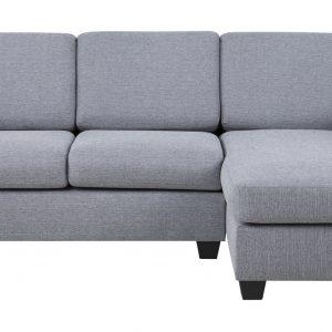 Loungebank 'Livia' rechts, kleur lichtgrijs