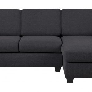 Loungebank 'Livia' rechts, kleur antraciet