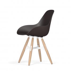 Kubikoff ZigZag stoel - Dimple closed - Eikenhouten onderstel - Kubikoff ZigZag stoel - Dimple Closed - Design kuipstoel