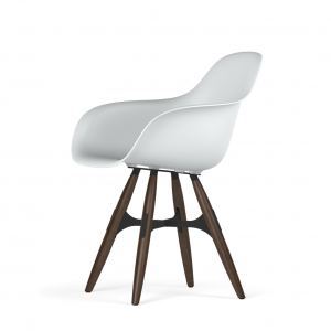 Kubikoff ZigZag stoel - V9 Armshell - Zwart met walnoten onderstel -