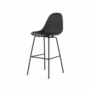Toou TA Barkruk - San base - Midden 65 cm - Zwarte poten - Kookeiland - Kunststof - Design