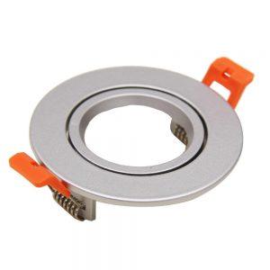 Ring 85mm voor LED Spot - Geborsteld Aluminium - Rond Kantelbaar