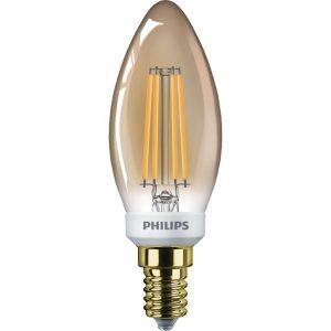 Philips Classic LEDcandle E14 B35 5W 822 Goud | Dimbaar - Vervangt 32W