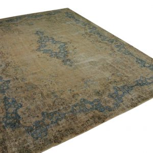 vintage vloerkleed zandkleur met blauw 360cm x 271cm