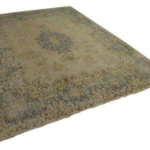 vintage vloerkleed zandkleur met blauw 392cm x 287cm