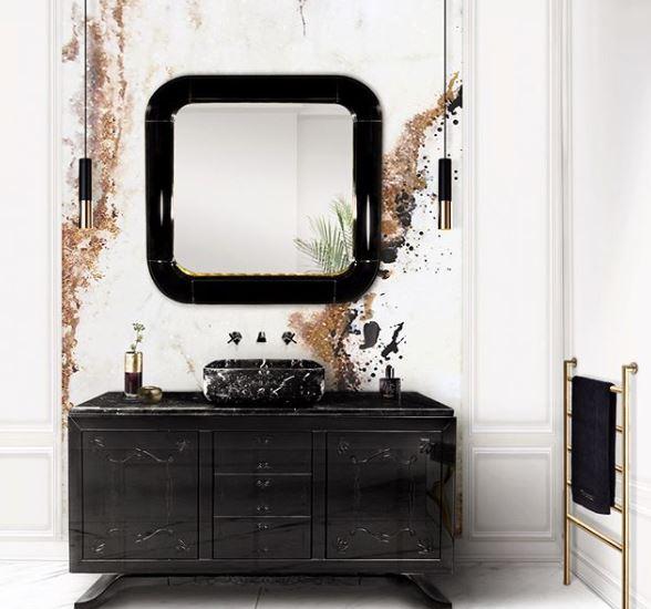 Wastafel met spiegel