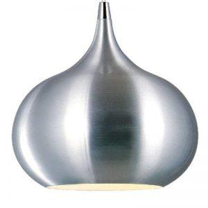 Opvallende hanglamp Riva, chroom-gesatineerd