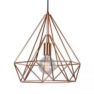Originele hanglamp Ricky, koper