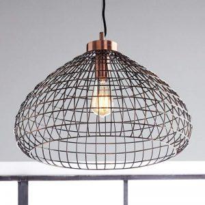 Koper glanzende hanglamp Moino