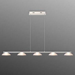 LED pendellamp Mamba met vijf lichtbronnen
