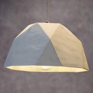 Grijze hanglamp Solo in betonstijl