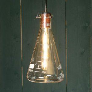Hanglamp Vitri in origineel laboratorium-ontwerp