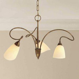 3-lichts landhuis-hanglamp Alessandro