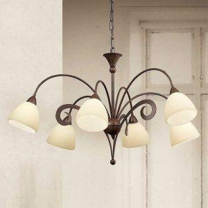 Meerlichts hanglamp Luca, 6-lichts