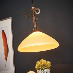 1-lichts hanglamp Luca in landhuisstijl