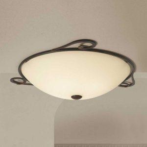 Ronde landhuis-plafondlamp Luca