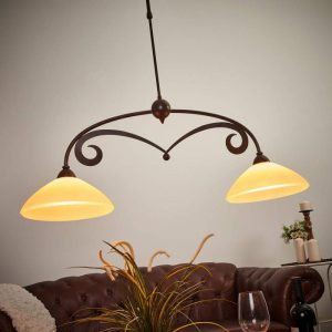 Leuke hanglamp Luca in landhuisstijl