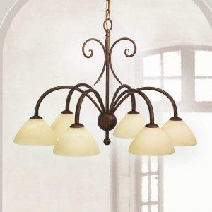 6-lichts hanglamp Federico