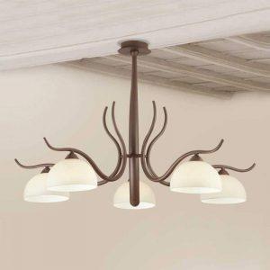 Donkerbruine plafondlamp Christian
