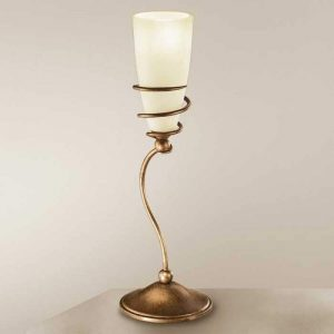 Tafellamp Daniele, antiek messing