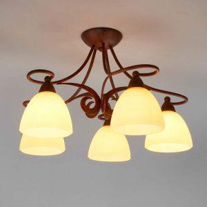 Rustieke plafondlamp Ginevra - 5 lichtbronnen