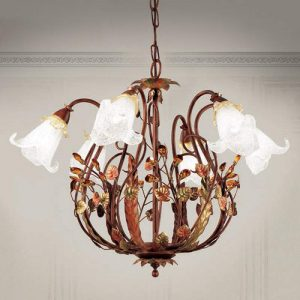 Florentijnse stijl - hanglamp Zarah 6 lichtbronnen