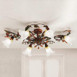 Florentijnse plafondlamp Zarah met 6 lichtbronnen