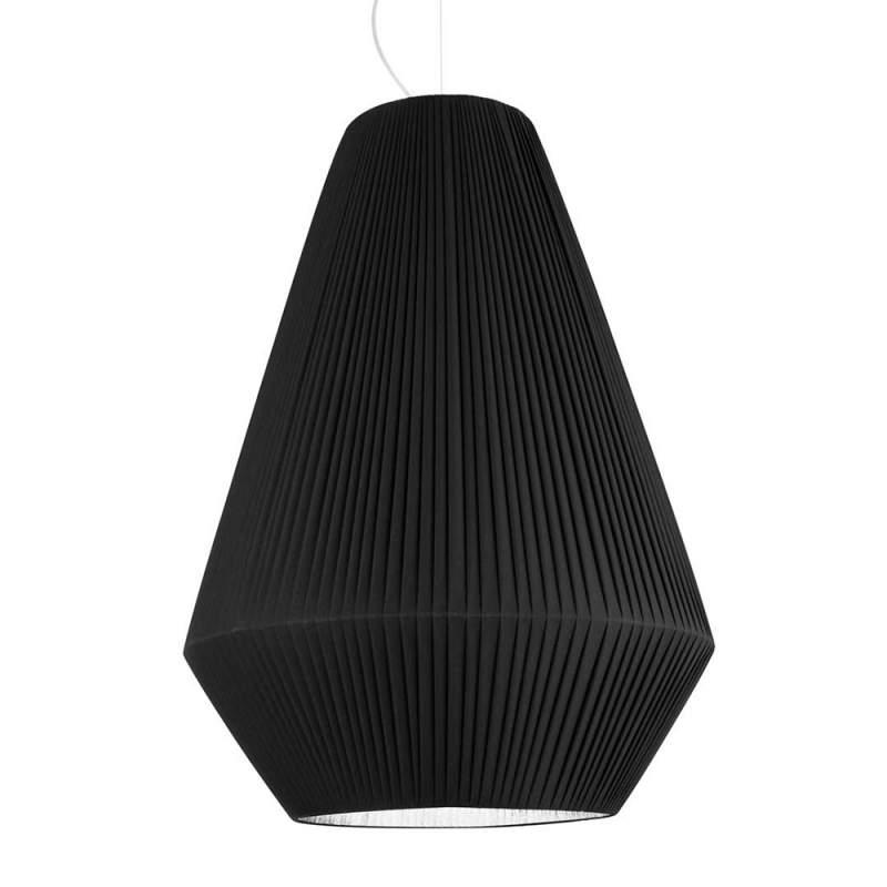 Fraaie textiel hanglamp Sheraton zwart