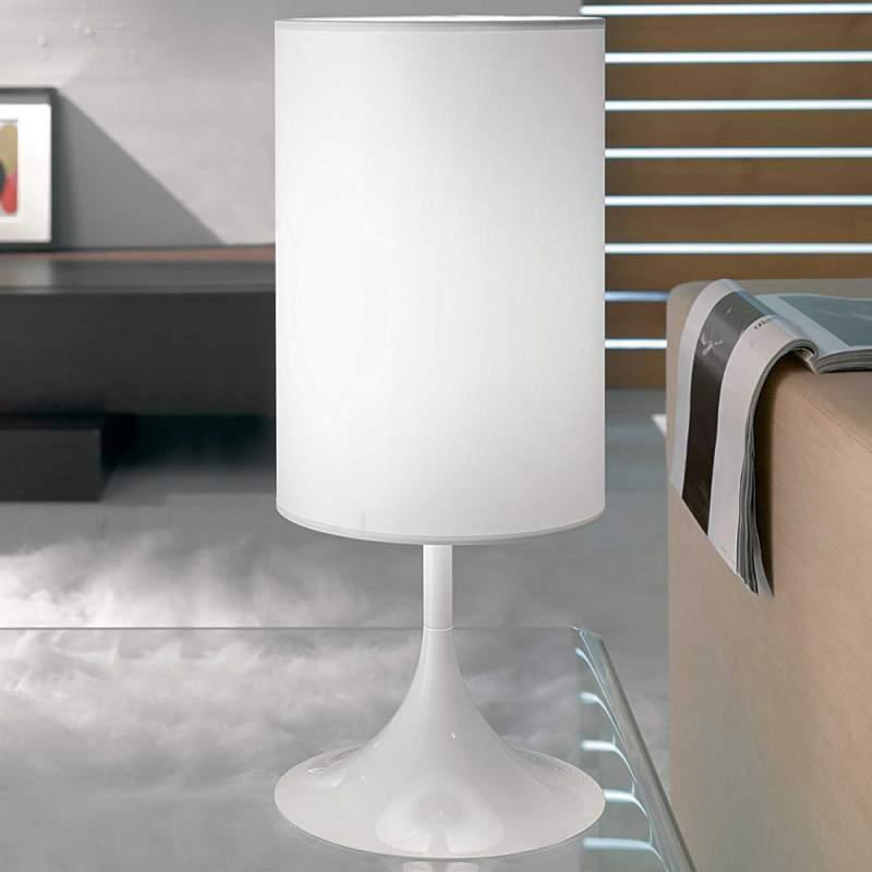 Witte tafellamp Flute 55 cm