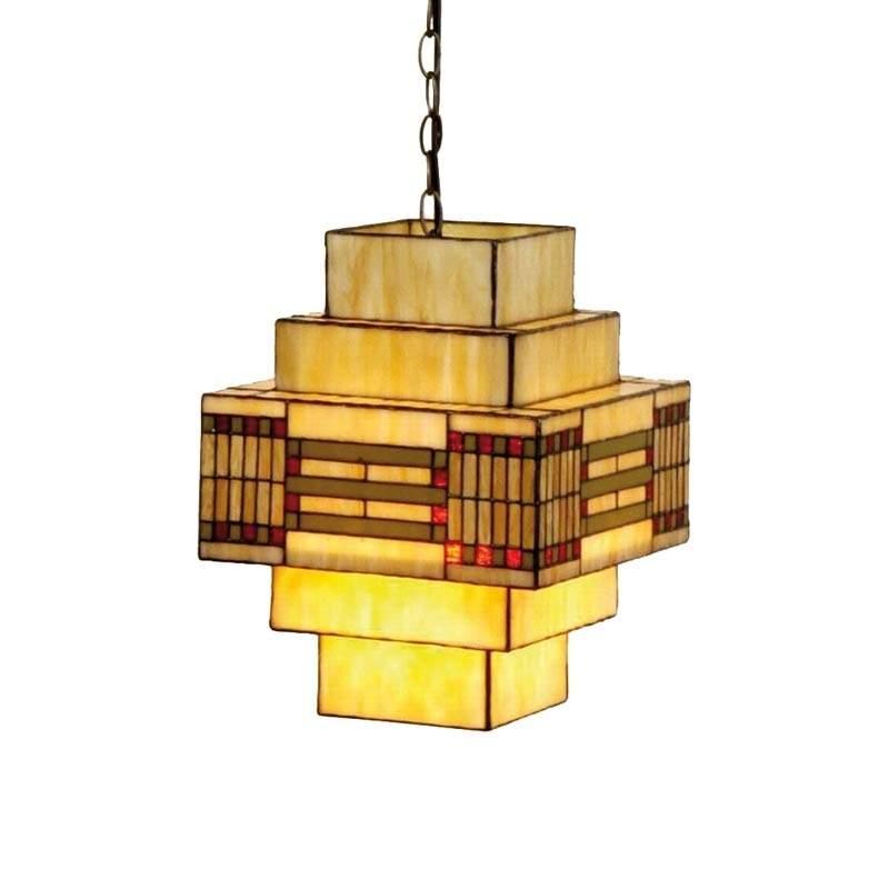 Opvallende hanglamp Stakkato in Tiffanystijl