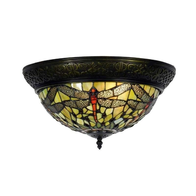 Plafondlamp Greene in Tiffanystijl