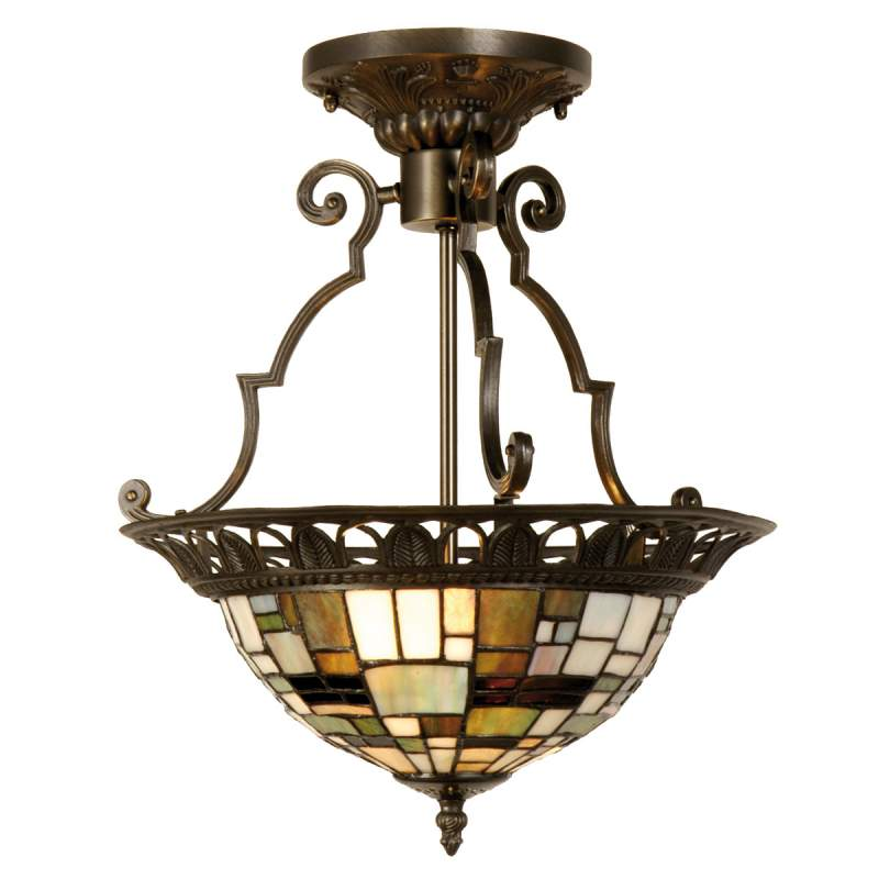 Villads - plafondlamp in Tiffany-stijl
