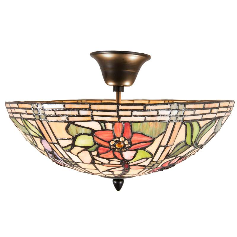 Aminata - plafondlamp in Tiffany-stijl