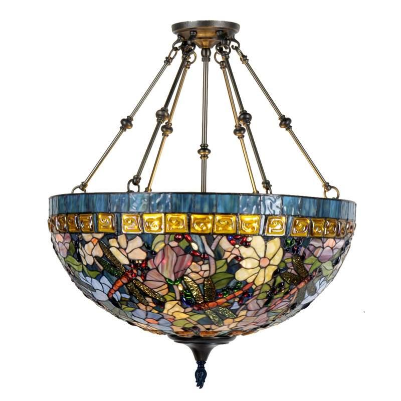 Gloria - hanglamp in Tiffany-stijl