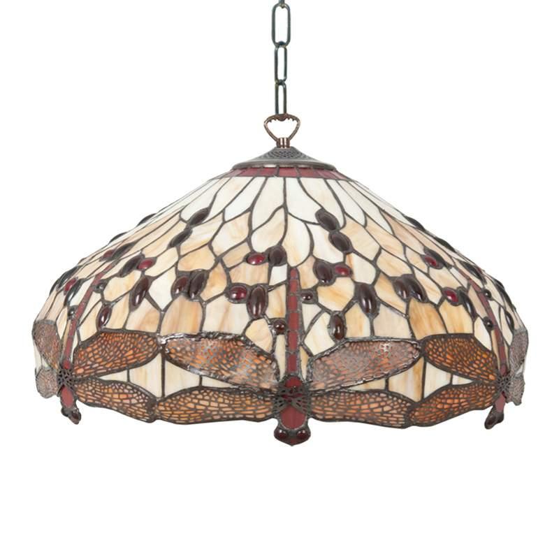 Betoverende hanglamp Pavol in Tiffany-ontwerp