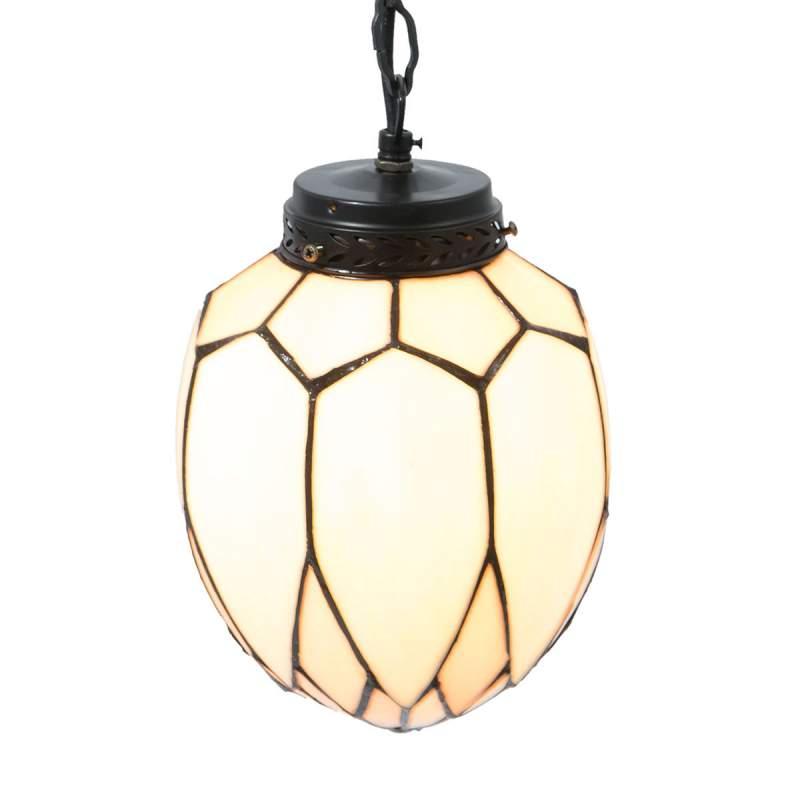Betoverende hanglamp Santo in Tiffany-stijl