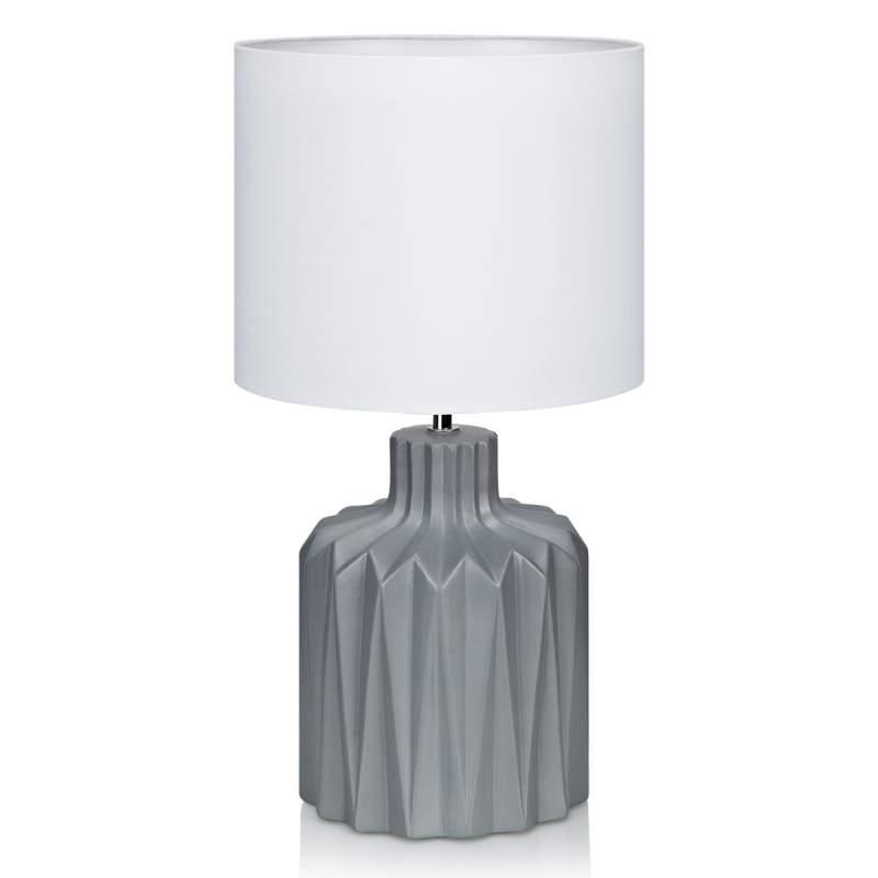 Keramieken tafellamp Benito m. textiel kap