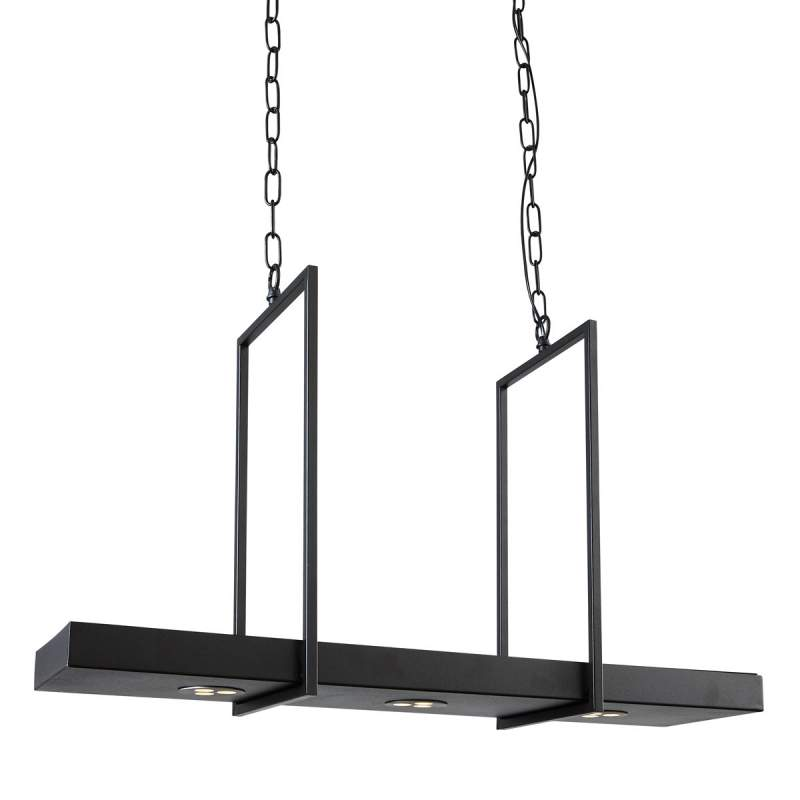 Slimme LED hanglamp Tray in zwart